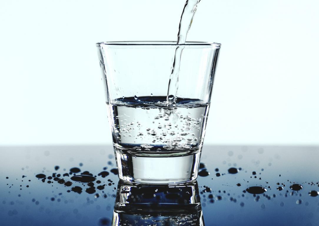 Kozarec z vodo
