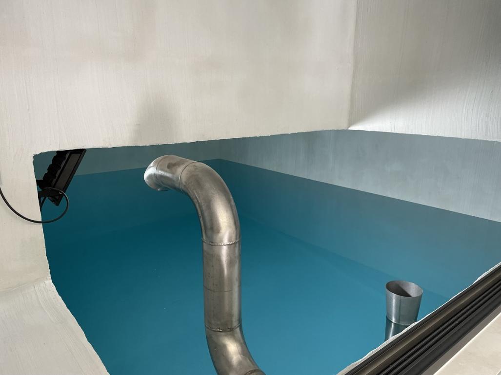 Na sliki je notranjost vodohrana.